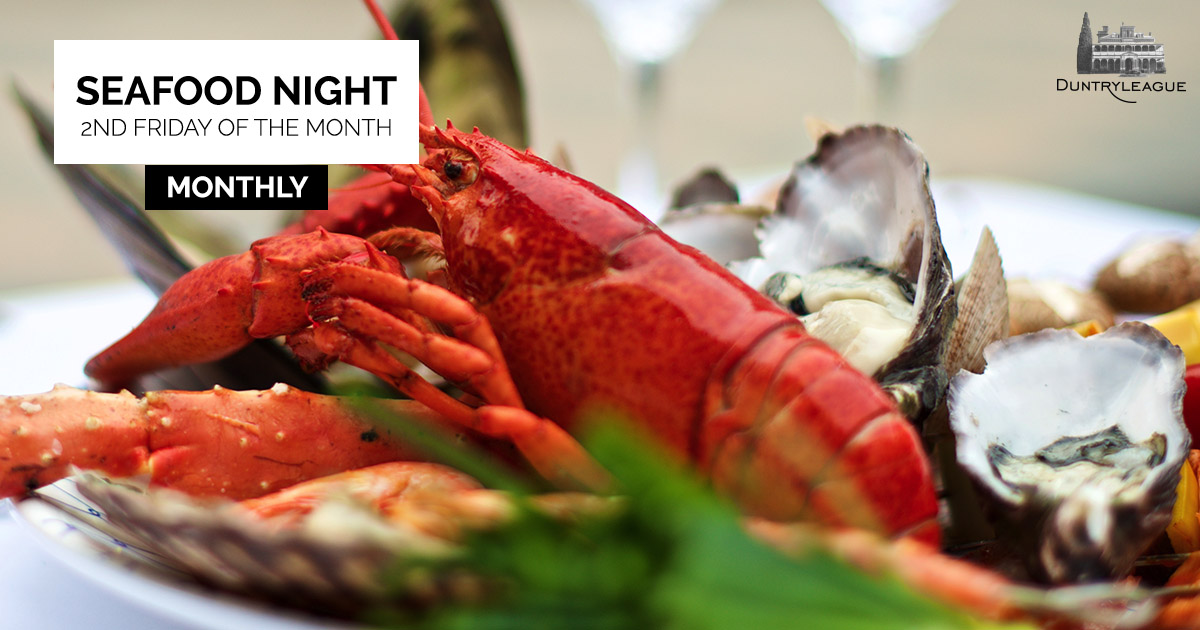 Duntryleague Seafood Night