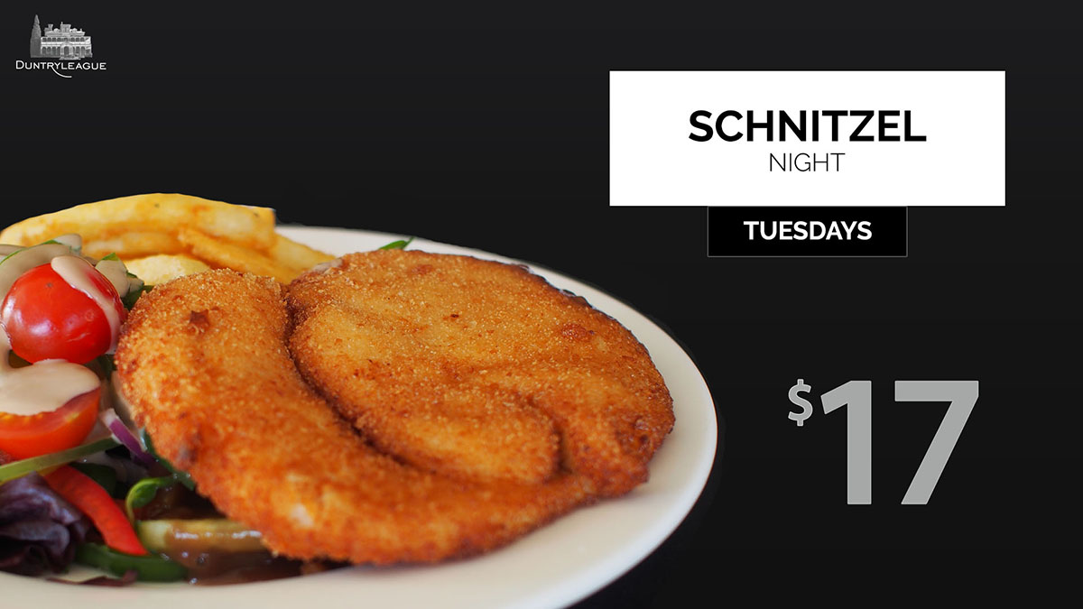 Duntryleague Schnitzel night